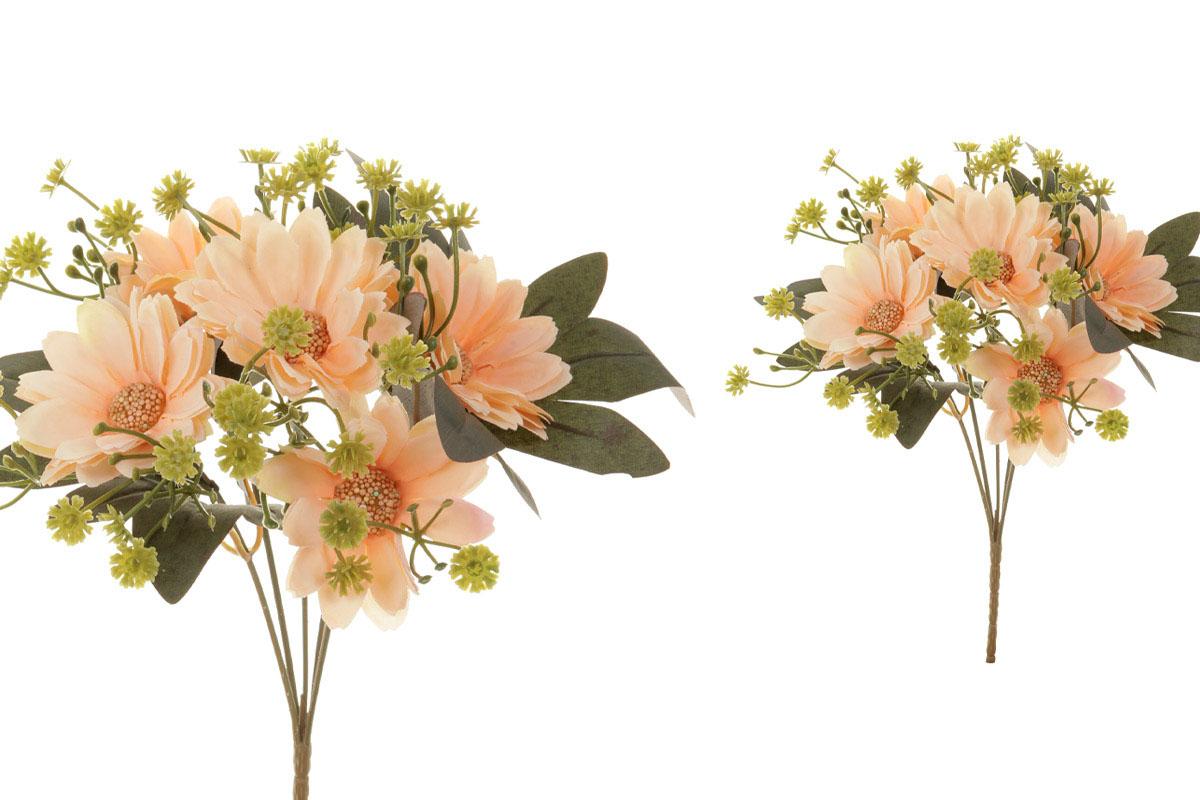 Květina umělá. Kokarda, barva oranžová