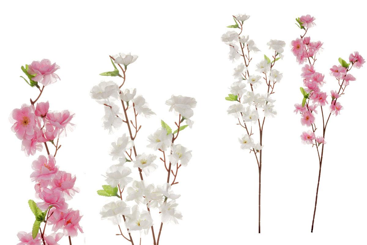 Umelý kvet, kvety broskyne, farba biela