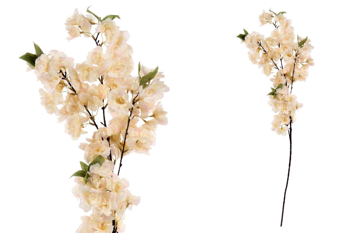 Květina umělá. Třešňové květy, barva smetanovo-meruňková