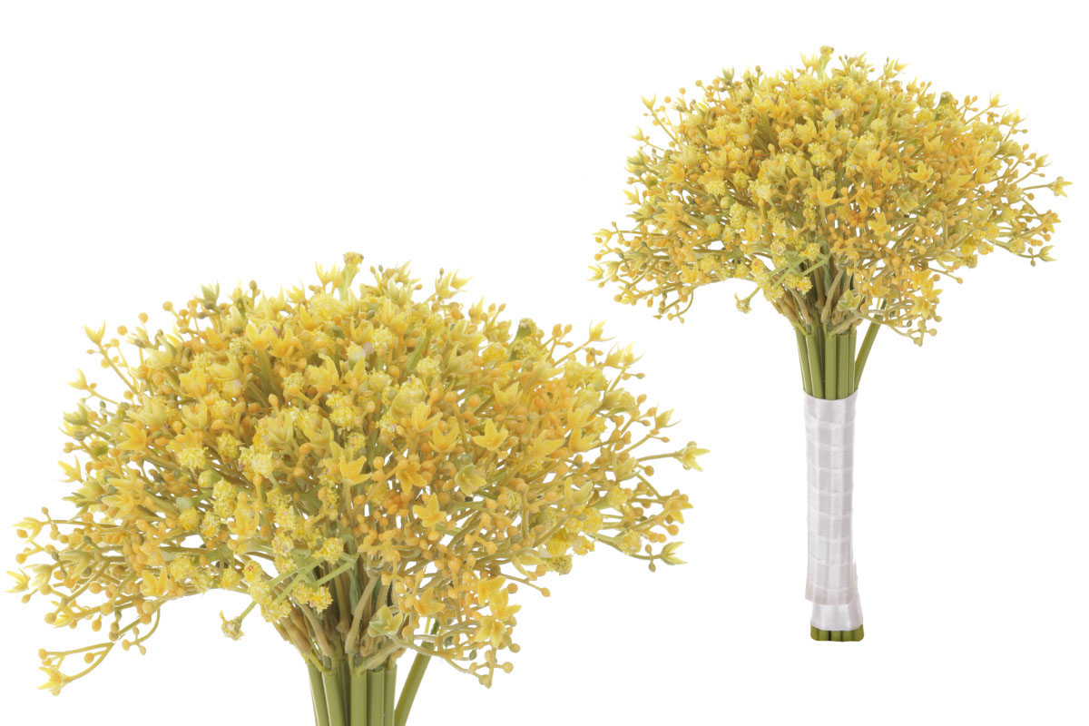 Umelý kvet, gypsofila, zväzok, farba žltá