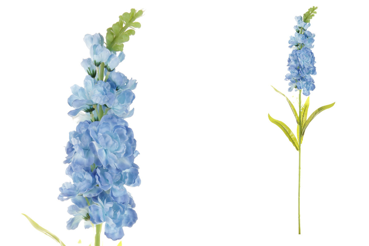 Květina umělá. Ostrožka, barva modrá