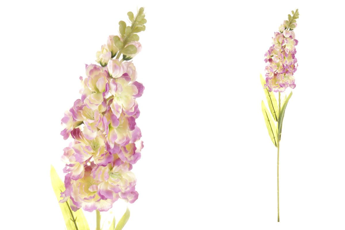 Umelý kvet, ostrôžka, farba krémovo-lilavá