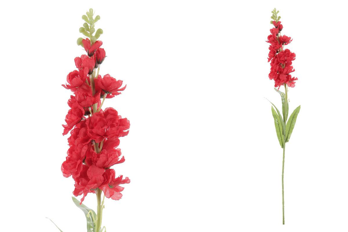 Květina umělá. Ostrožka, barva červená