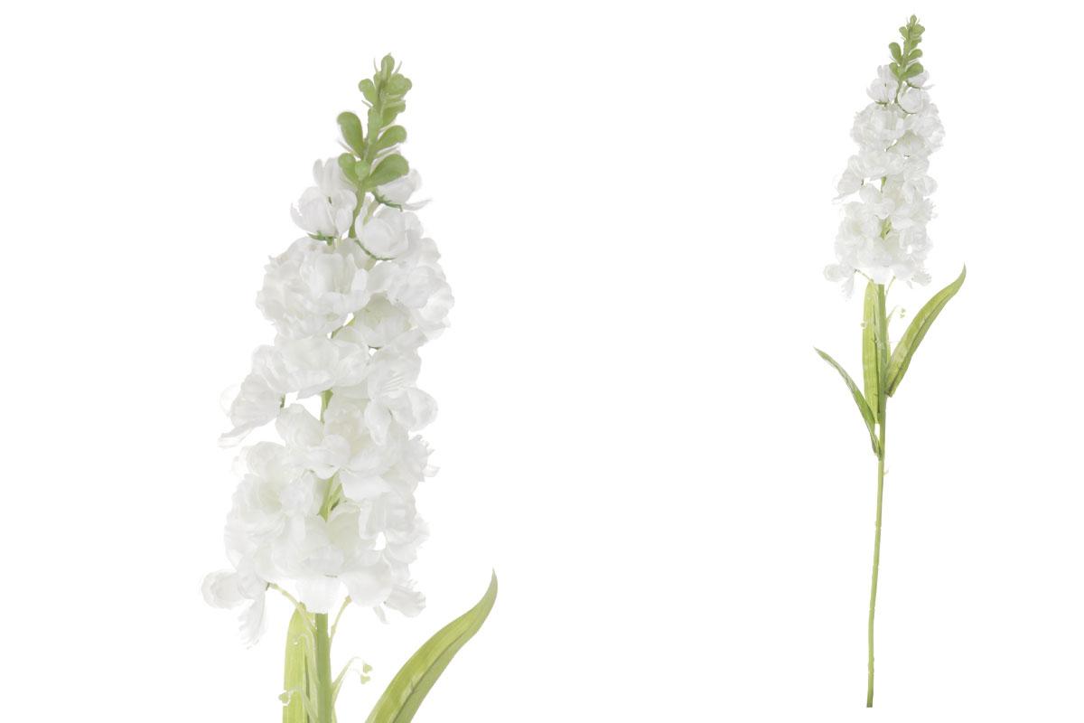 Květina umělá. Ostrožka, barva bílá