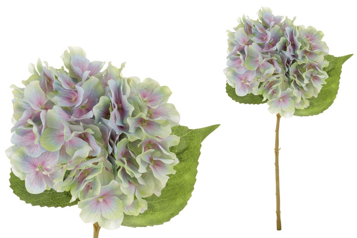 Květina umělá. Hortenzie, barva modro-zelená