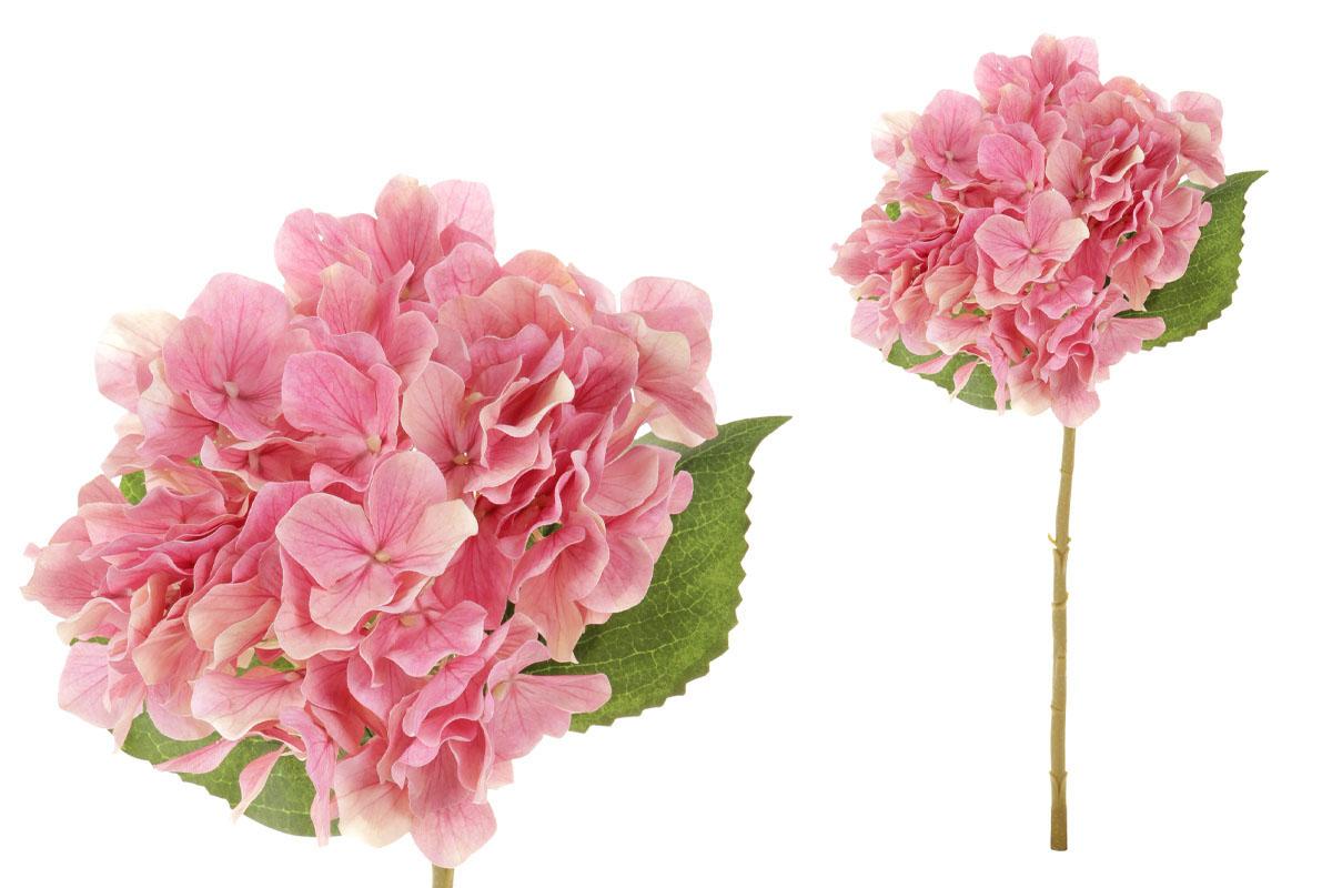 Květina umělá. Hortenzie, barva růžová
