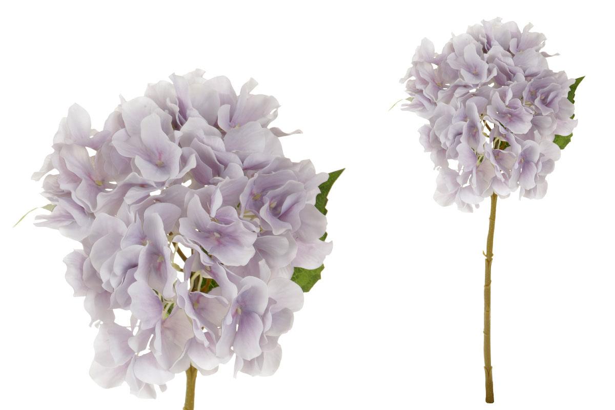 Květina umělá. Hortenzie, barva filová světlá
