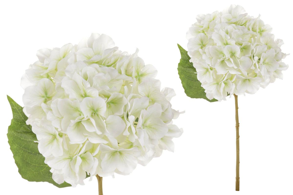 Květina umělá. Hortenzie, barva bílo-zelená