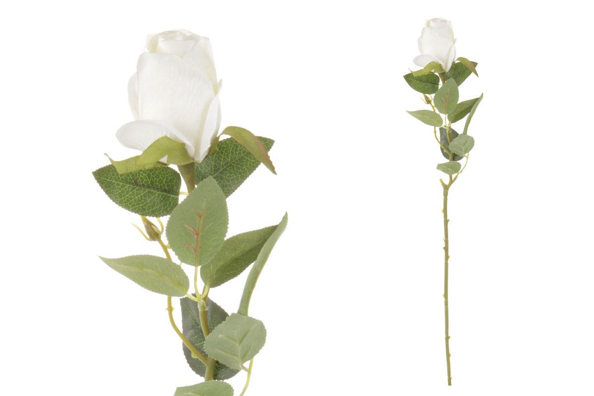 Umelý kvet, ruža, farba biela