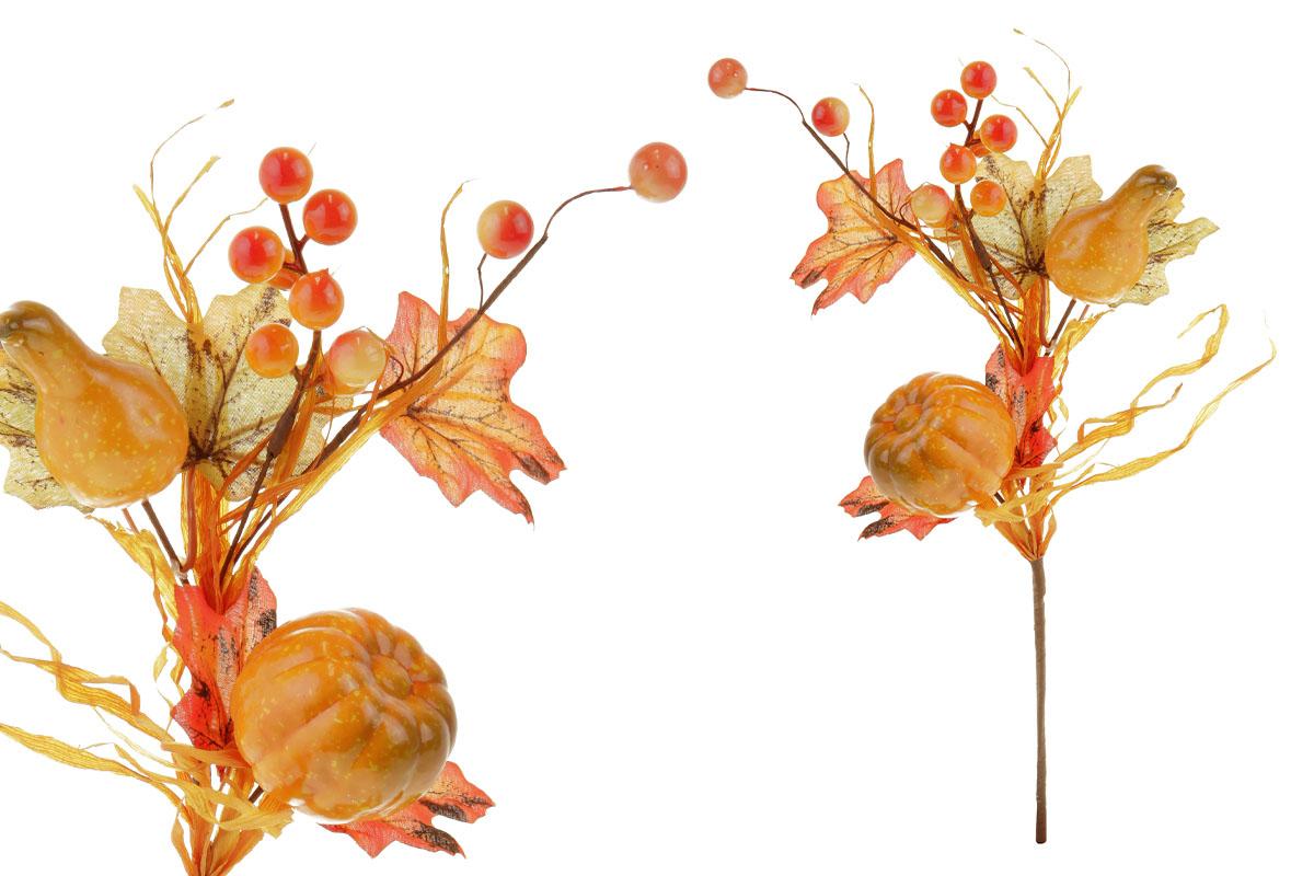 Větvička podzimní s dýněmi, umělá dekorace