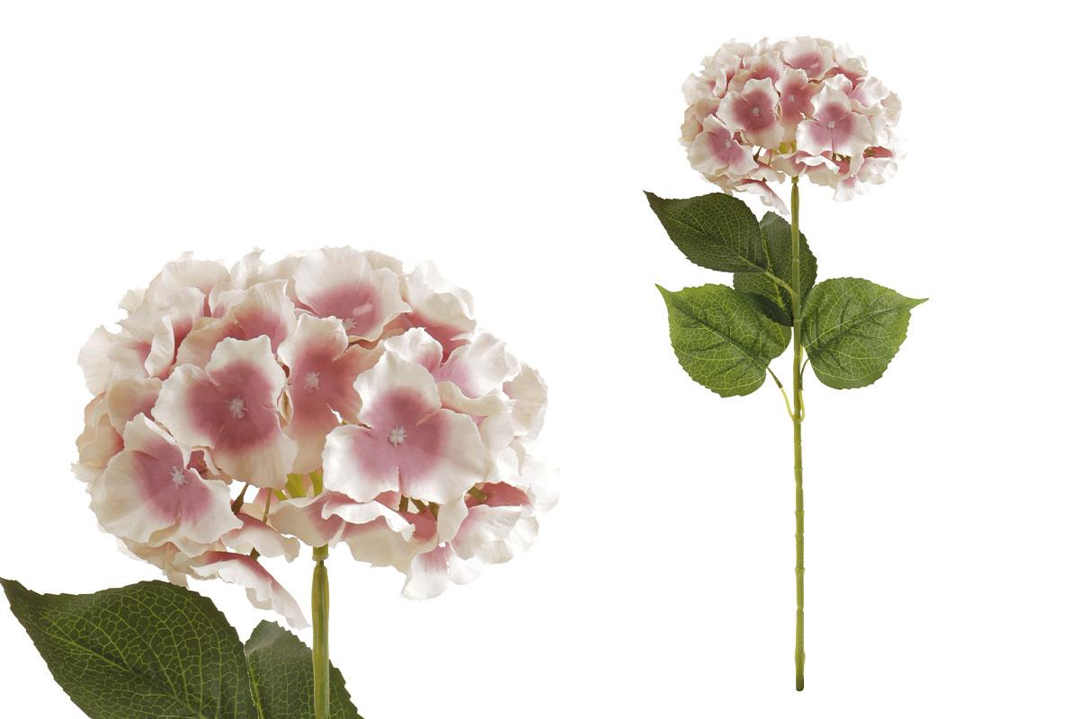 Hortenzie, barva krémovo-lila.  Květina umělá.