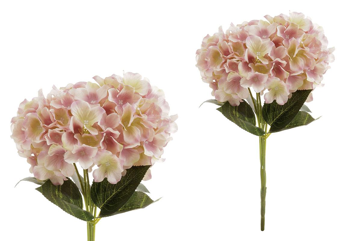 Hortenzie, puget, barva krémovo-lila. Květina umělá.