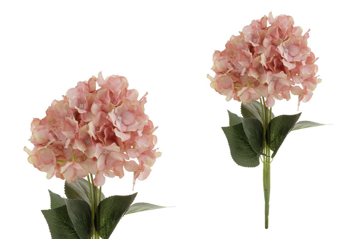 Hortenzie, puget, barva oranžová. Květina umělá.