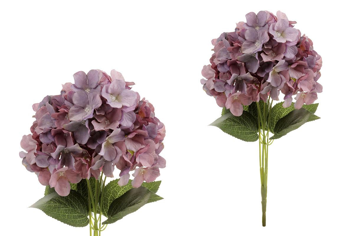 Hortenzie, puget, barva fialová. Květina umělá.