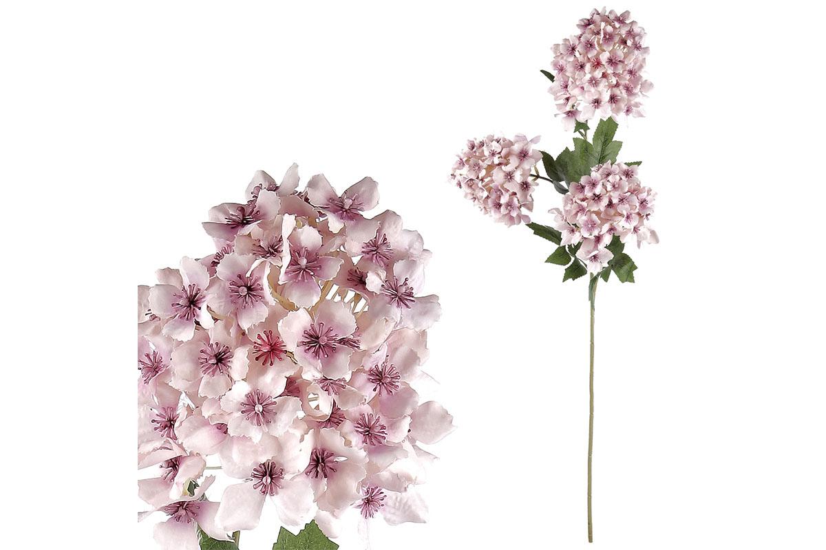 Šeřík, 3 květy, barva růžová.