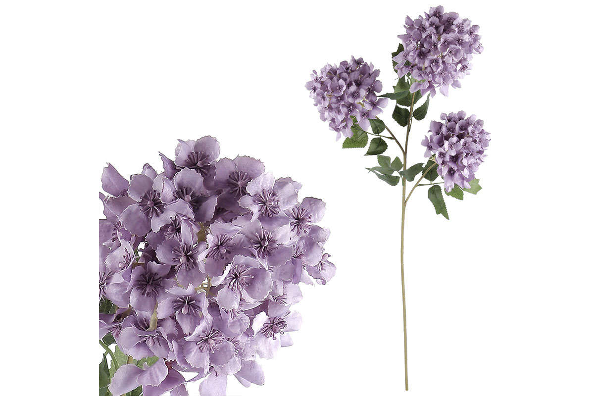 Šeřík, 3 květy,  barva fialová.
