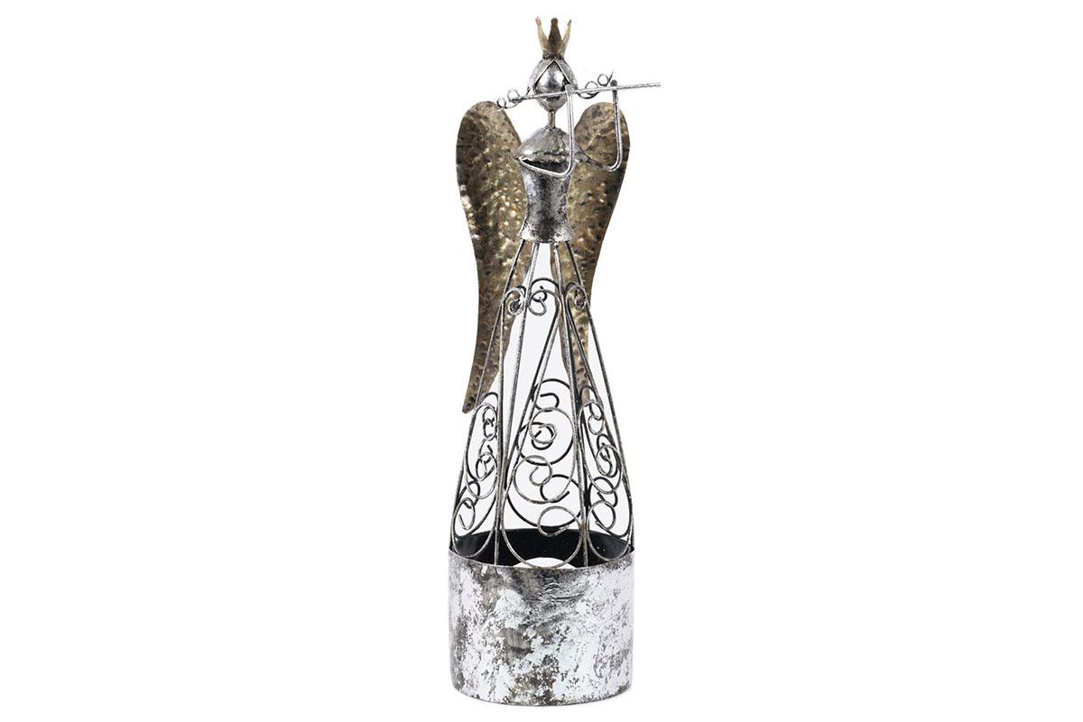 Anlej s fautou, kovová dekorácia