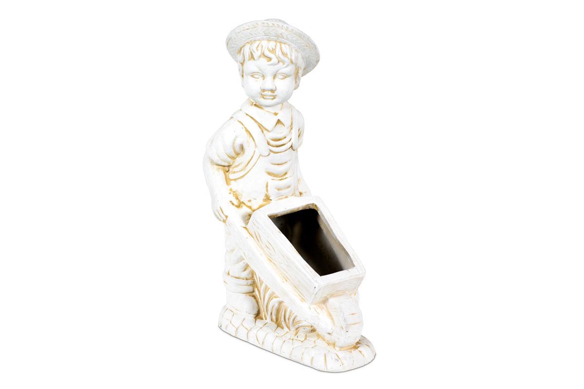 Keramická socha - kvetináč