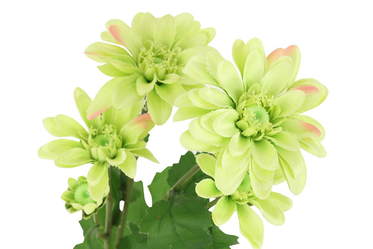 Umělá květina, kopretina, barva zelená