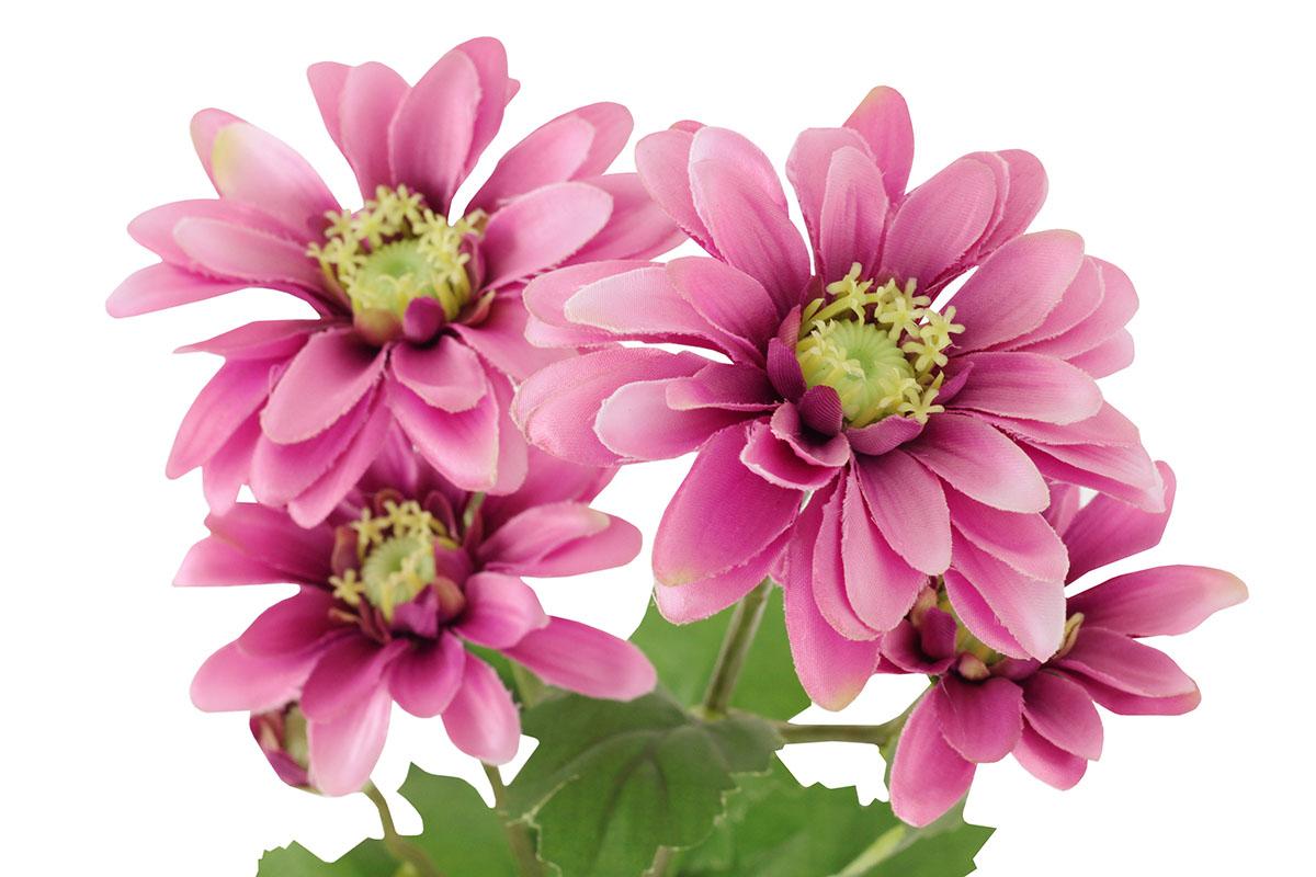 Umělá květina, kopretina, barva lila