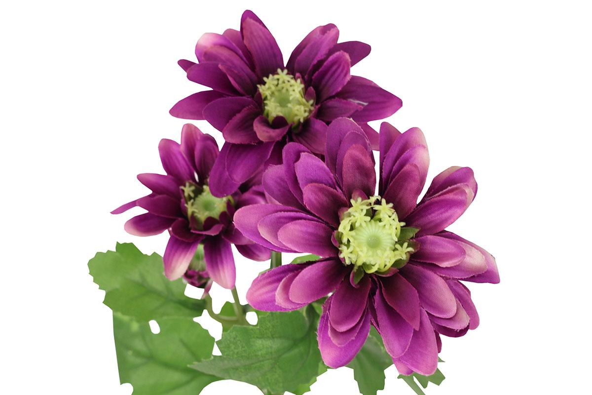 Umělá květina, kopretina, barva purpurová