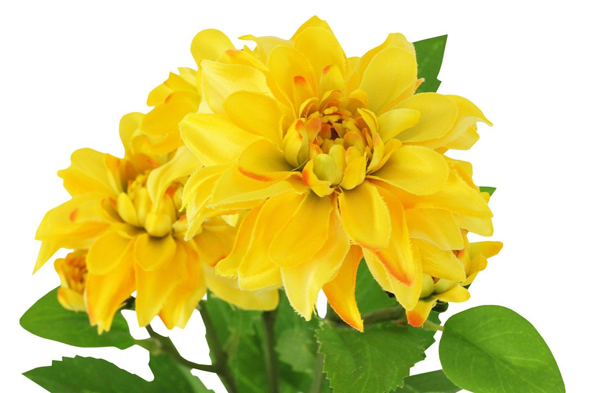 Umelý kvet, dahlia, farba žltá