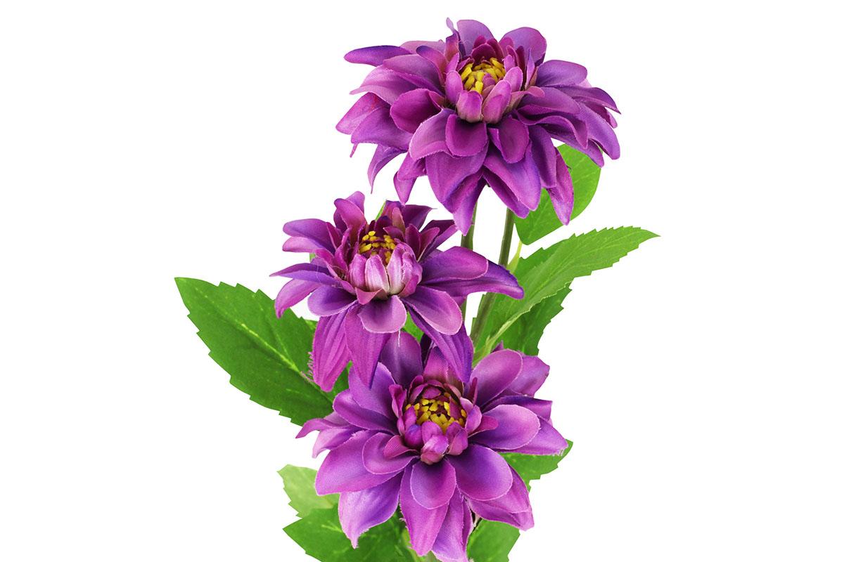 Umělá květina,Jiřinka, barva purpurová