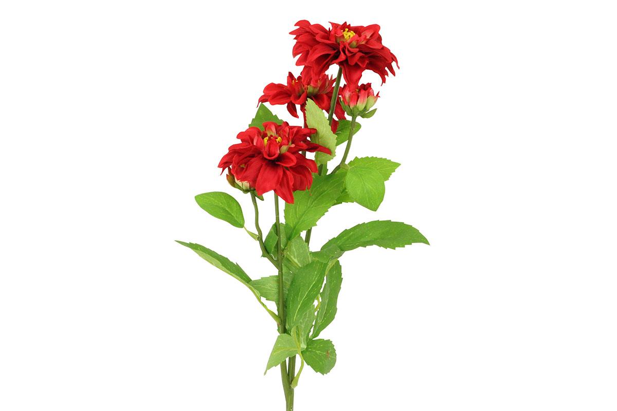 Umelý kvet, dahlia, farba červená