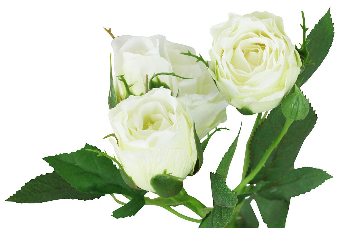 Umělá květina, růže barva bílá