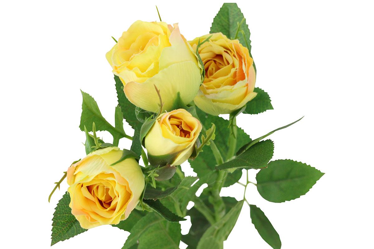Umělá květina, růže barva žlutá