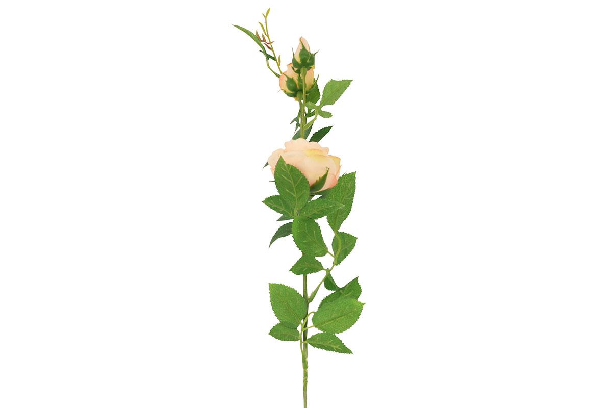 Umělá květina,  růže barva oranžová