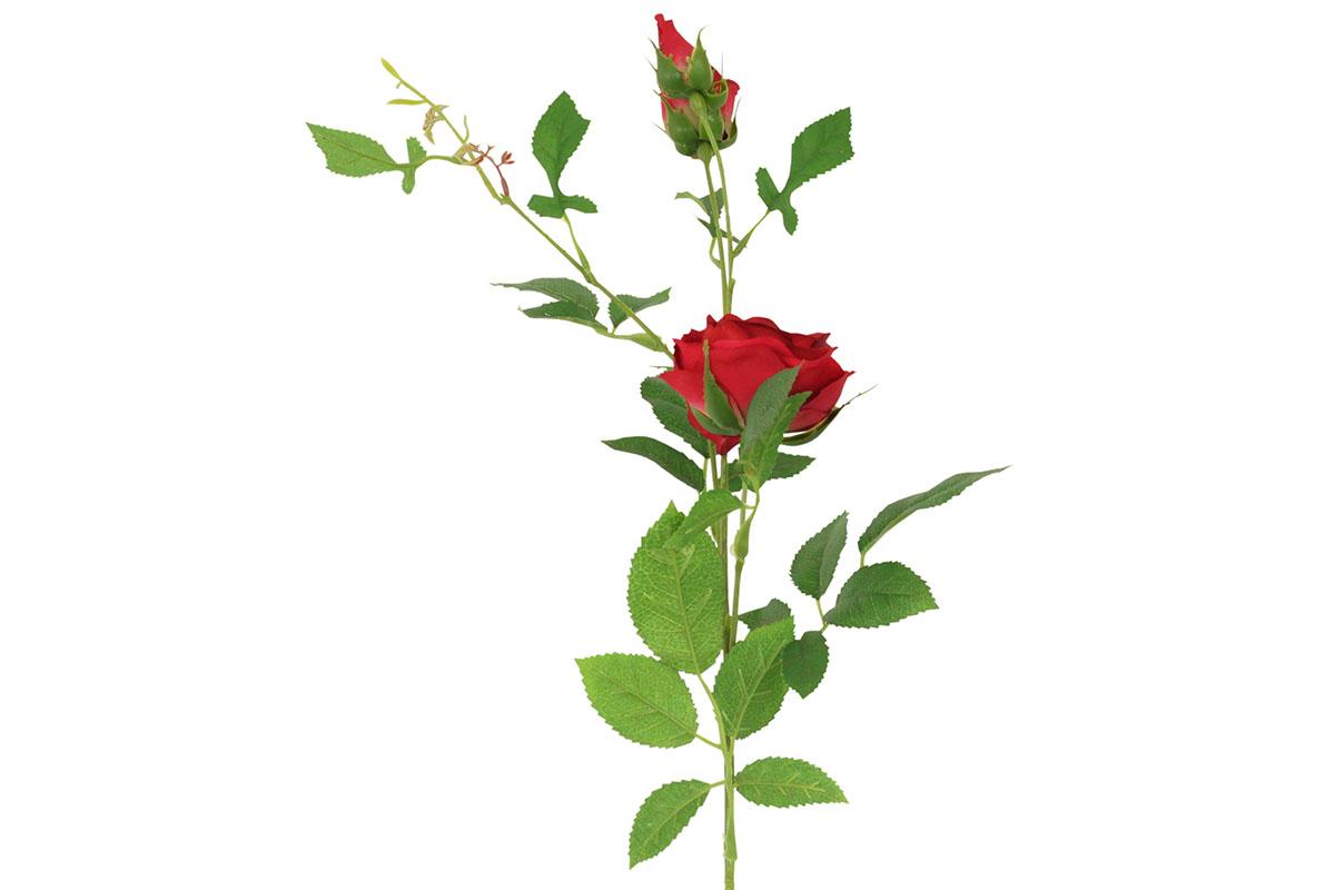Umělá květina,  růže barva červená