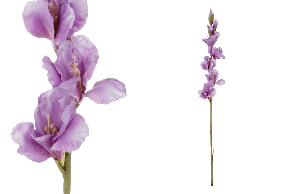Gladiola, barva fialová.Květina umělá.