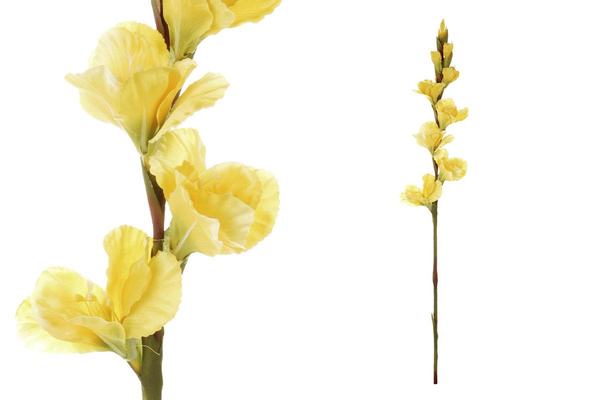 Gladiola, barva žlutá. Květina umělá.
