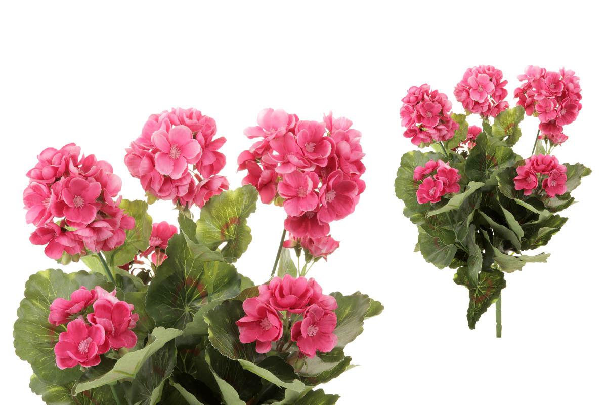Muškát puget, barva růžová. Květina umělá.