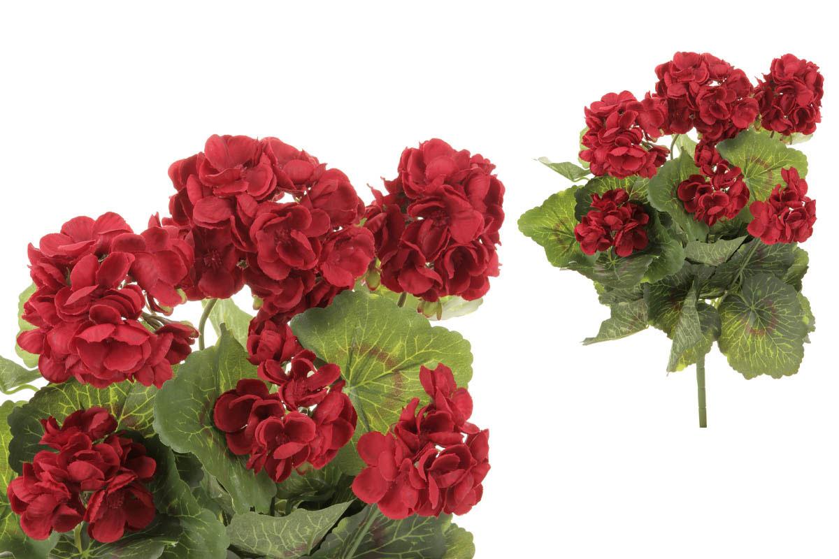 Muškát puget, barva červená. Květina umělá.