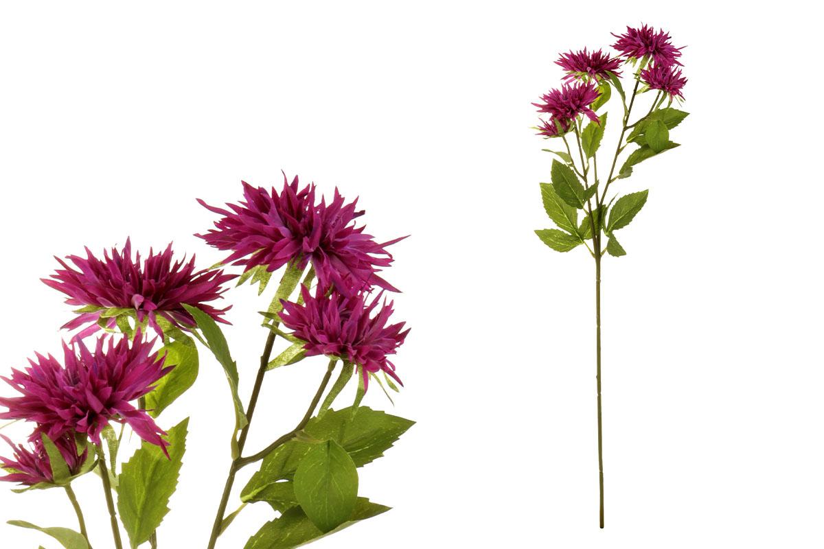 Astra, barva fialová. Květina umělá.
