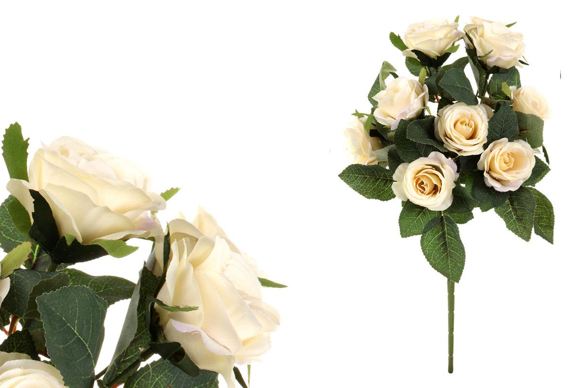 Kytica ruží, farba krémová