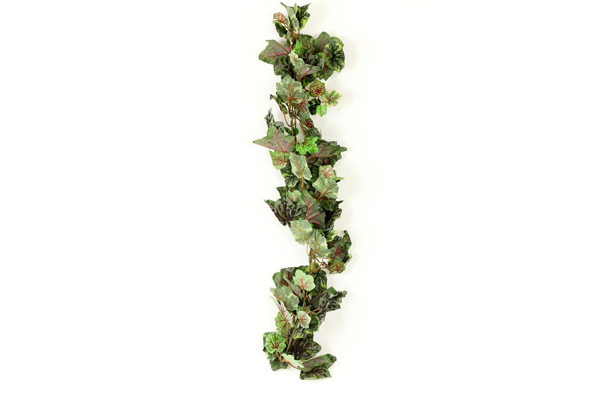 Girlanda - vínne listy, zelenošedá