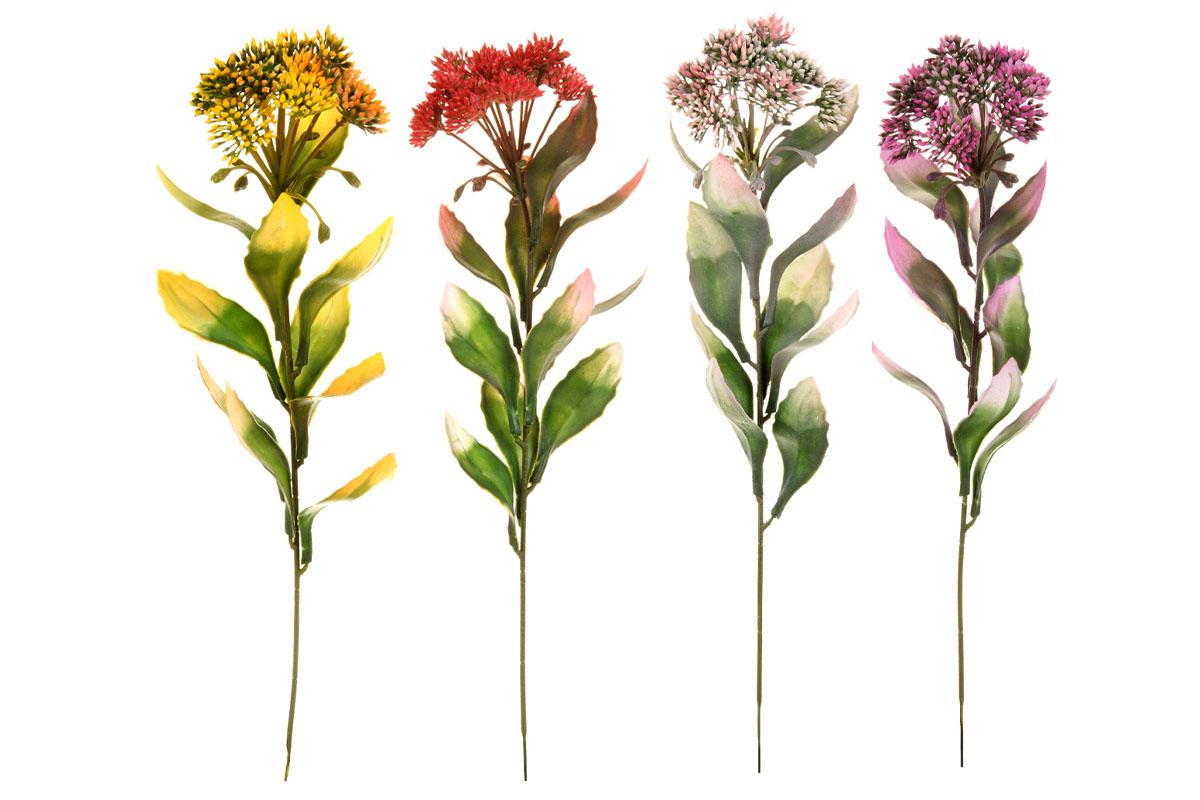 Umelý kvet, mix 4 farieb, cena za 1 kus