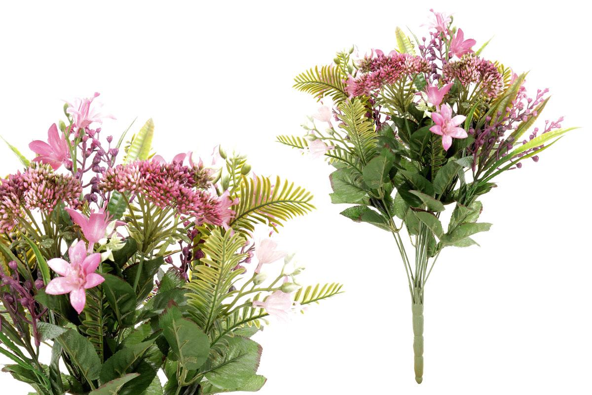 Umělá květina, puget květin ve fialové barvě