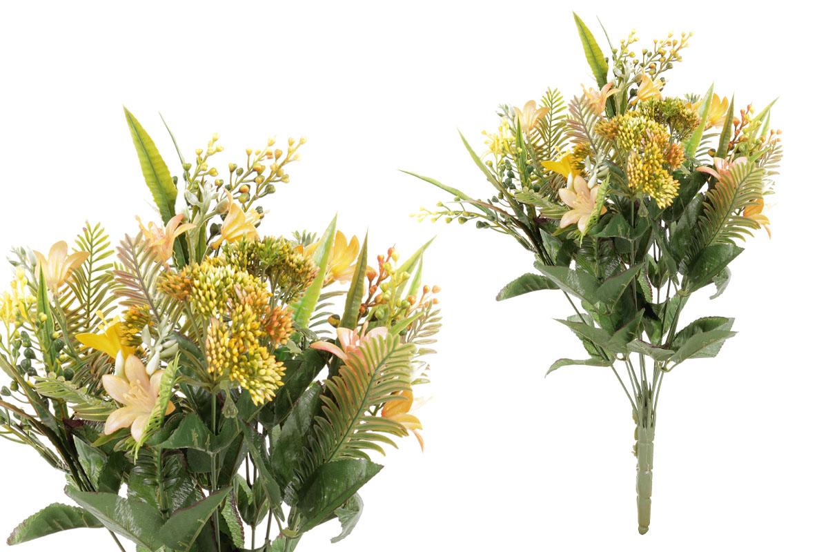 Umělá květina, puget květin ve žluté barvě