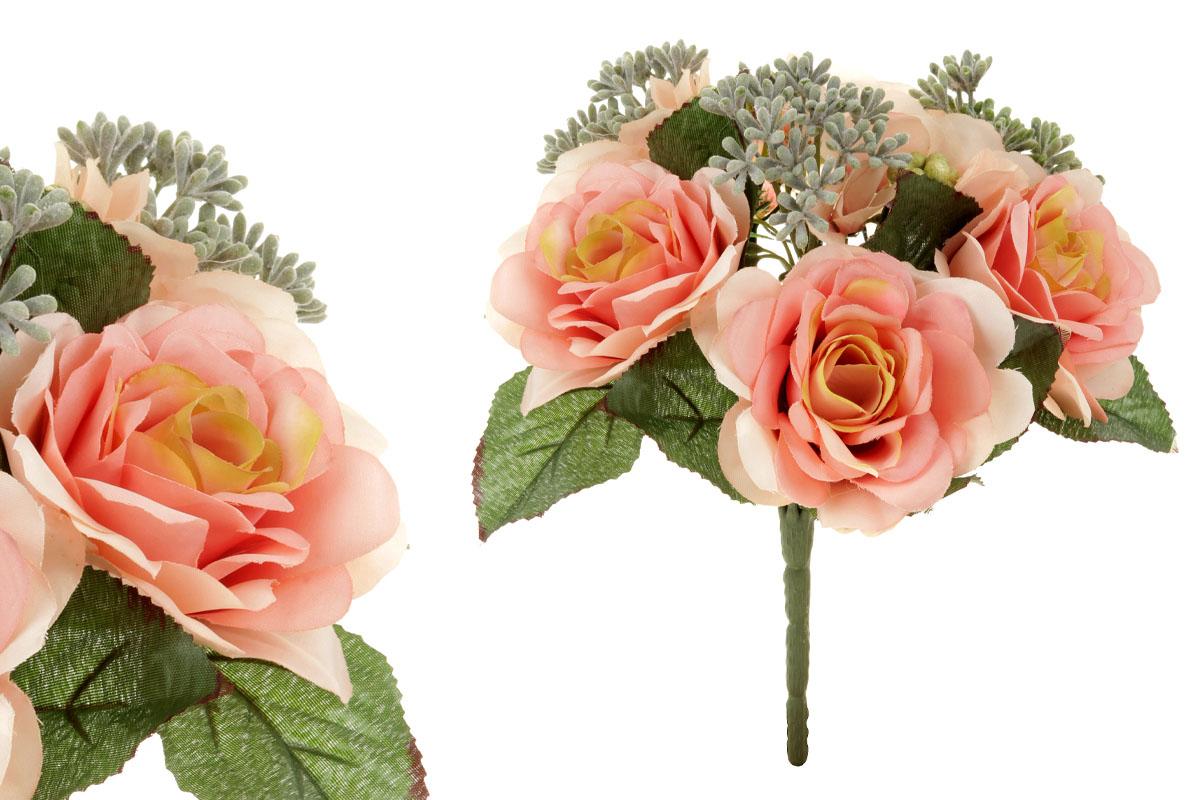 Umělá květina, puget růžiček v růžové barvě