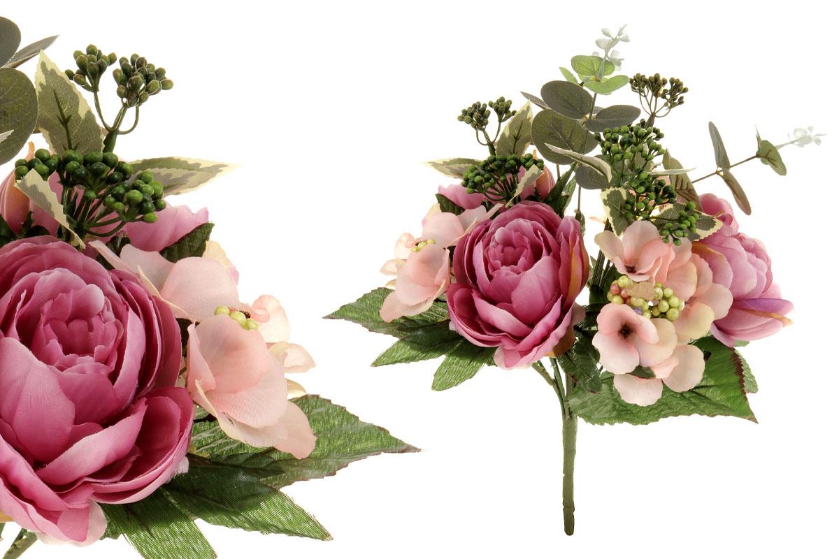 Umělá květina, puget květin v odstínech lila