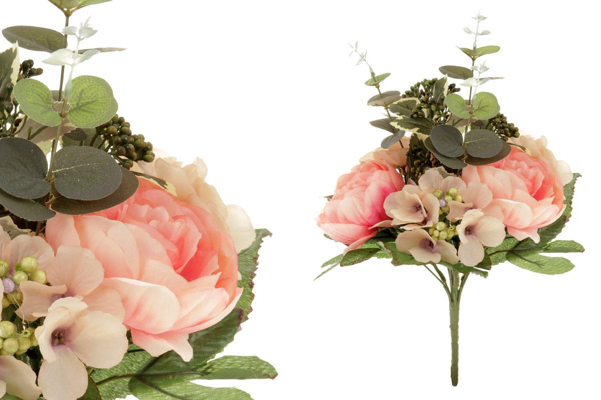 Umělá květina, puget květin v odstínech růžové