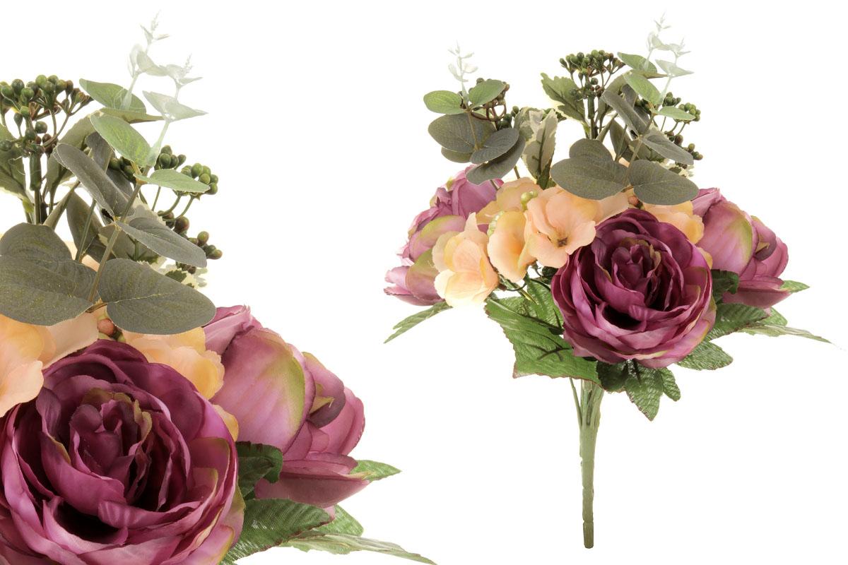 Umělá květina, puget květin v odstínech fialové