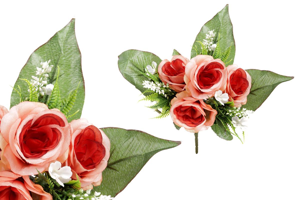 Umělá květina, puget růžiček barva tmavě růžová