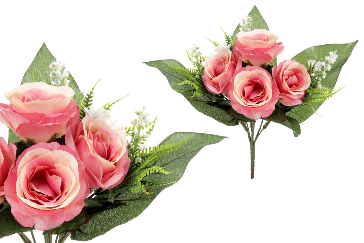 Umělá květina, puget růžiček, barva růžová