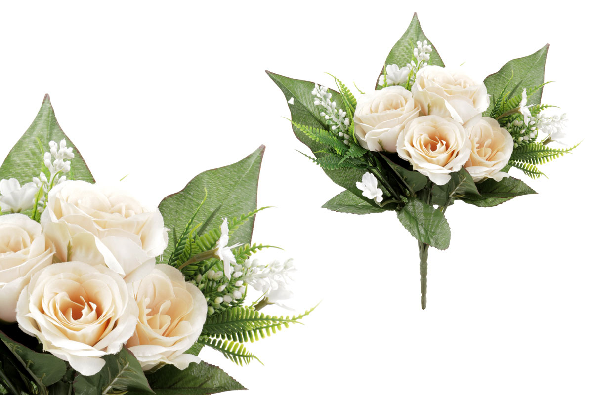 Umělá květina, puget růžiček, barva žlutá