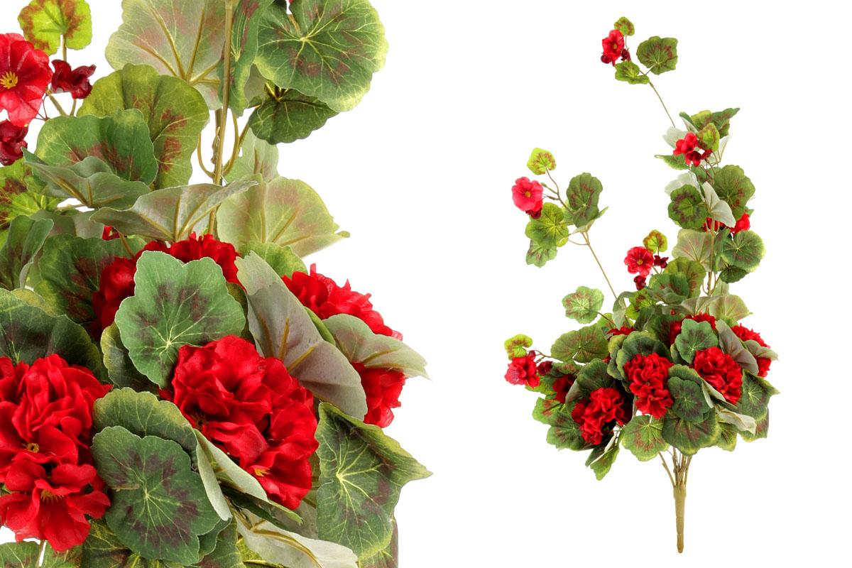 Umělá květina, muškát,  barva červená